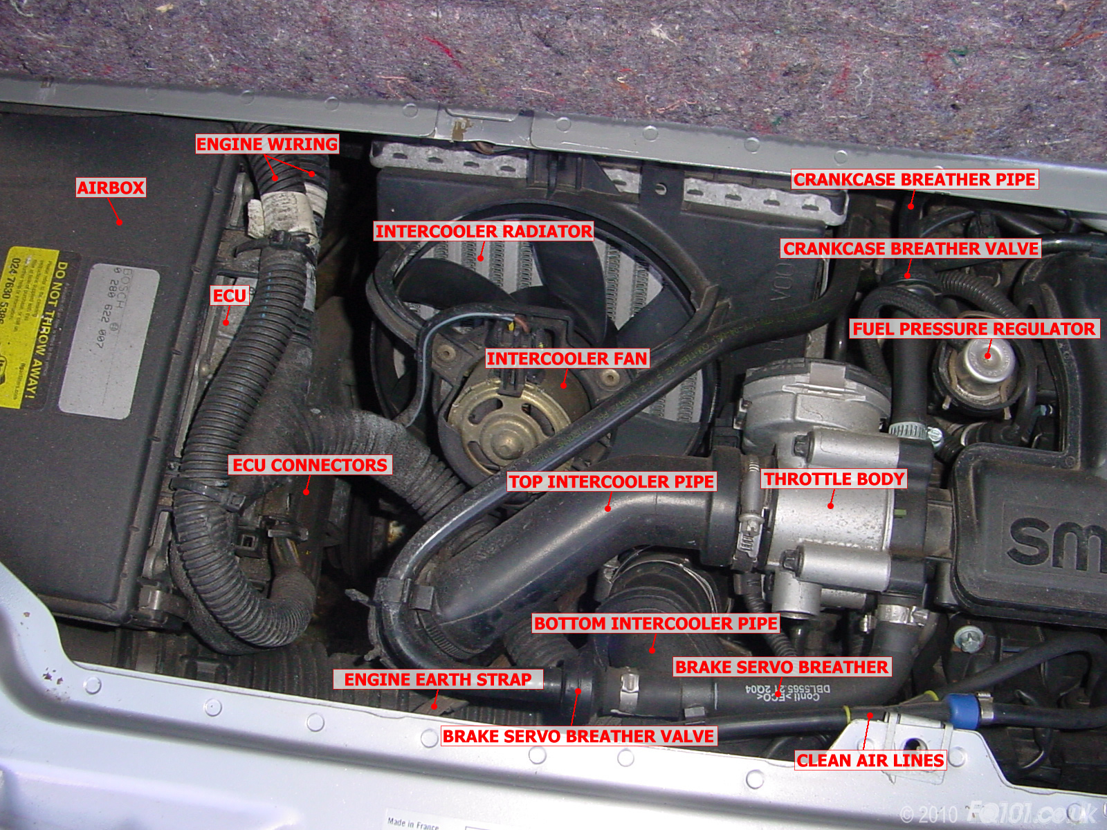 Identifying engine components