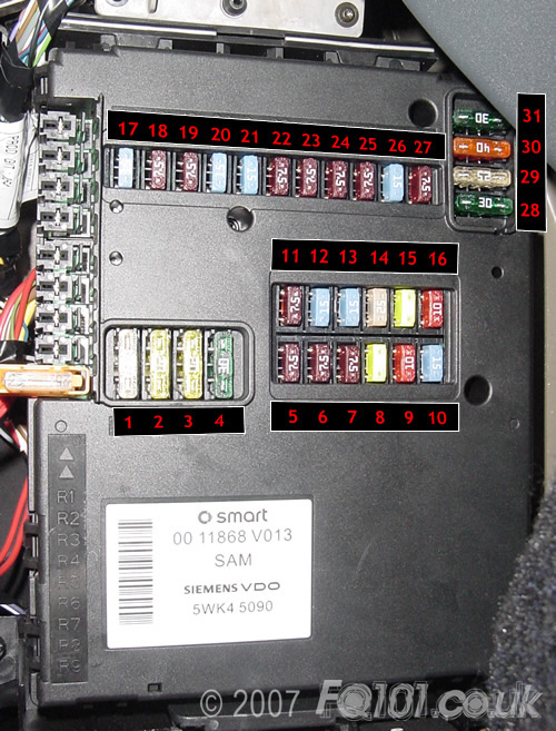 fuse arrangement rh fq101 co uk